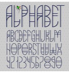 Elegant alphabet vector image