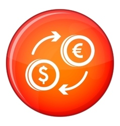 Euro dollar euro exchange icon flat style vector
