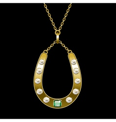 golden horseshoe vector image vector image