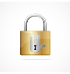 locked padlock gold and Keyhole vector image