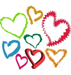 loving hearts vector image