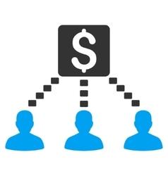 Money recipients icon vector