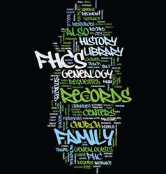 Mormon genealogy text background word cloud vector