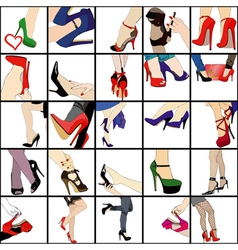 My passion for shoes vector