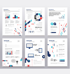 presentation booklet - set of modern vector image