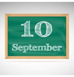 September 10 day calendar school board date vector