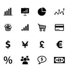 Set of economy and finance related icons vector image