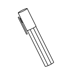 Silhouette highlighter pen with lid icon vector
