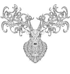 Stylised deer vector