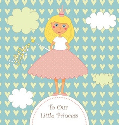 Sweet little princess card vector