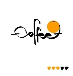 Text coffee written vector