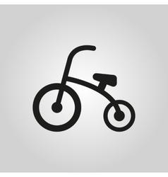 Tricycle icon design Bike bicycle symbol web vector image vector image