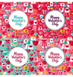 Valentine day greeting concepts vector