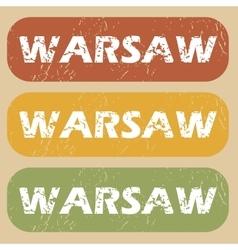 Vintage warsaw stamp set vector