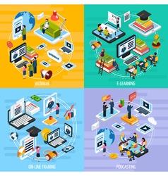 Webinar concept icons set vector