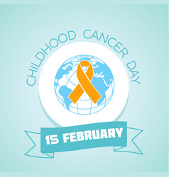 15 february childhood cancer day vector