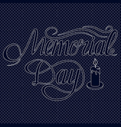 Memorial day card with lettering festive vector
