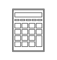 Calculator investigate research rates line vector