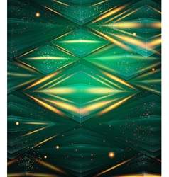 Abstract hexagon pattern Green shiny background vector image