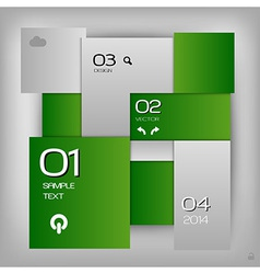 Business squares template green with text vector