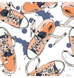 Gumshoes seamless pattern vector