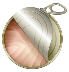 A topview of an open can vector