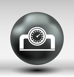 Gauge industrial valve icon button logo symbol vector