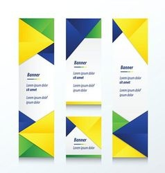 Abstract banner set brazil style vector