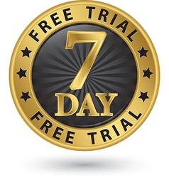 7 day free trial golden label vector