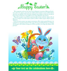 Easter design with text vector