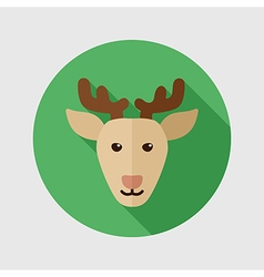 Deer flat icon animal head vector
