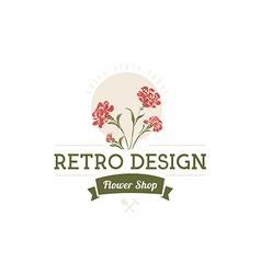 Carnation flowers Logotype Label Badge vector image