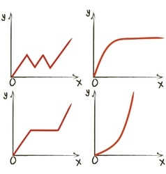 Set of different function graphs vector