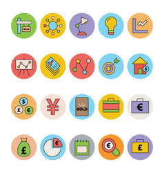 Business and Office Colored Icons 12 vector image