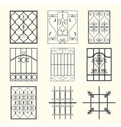 Iron window grills vector image