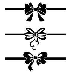 Ribbon set vector