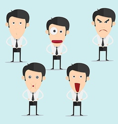 Businessman character set version3 vector