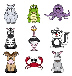 Cartoon animals and pets vector image vector image