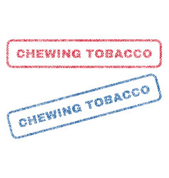 Chewing tobacco textile stamps vector
