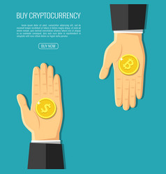 crypto currency design vector image vector image