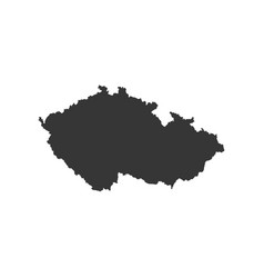 Czech republic map outline vector