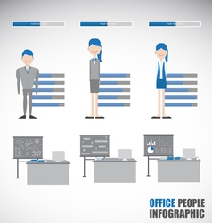 Employment character info-graphic vector