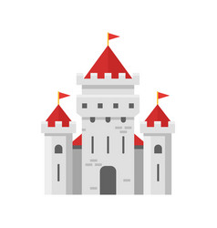 Flat style of fairy castle vector