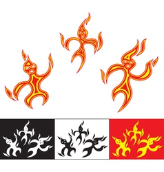 funny fiery characters vector image