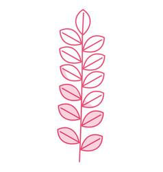 Leafs wreath decorative icon vector