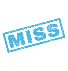 Miss rubber stamp vector