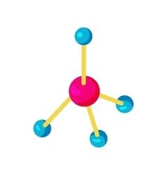 Molecule icon in cartoon style vector image