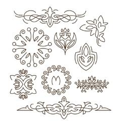 Monogramsline design elements for logos frames vector image