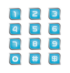 Number icon set vector