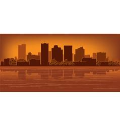 phoenix arizona skyline vector image vector image